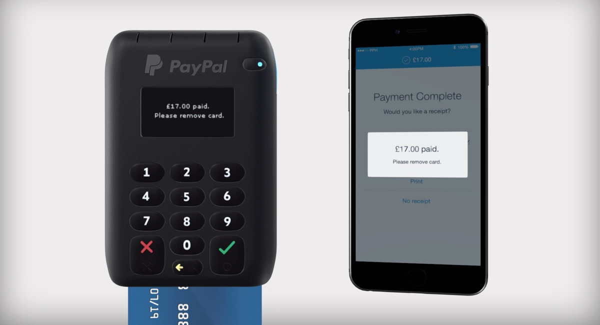 PayPal Here UK with app on smartphone