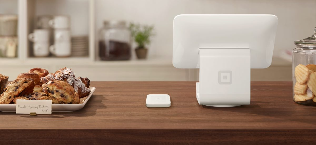 Square Stand and Contactless Chip reader in coffee shop