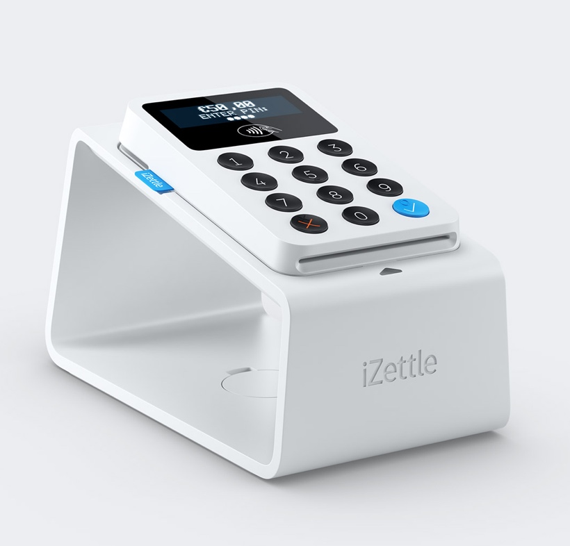 iZettle Reader on Dock charger