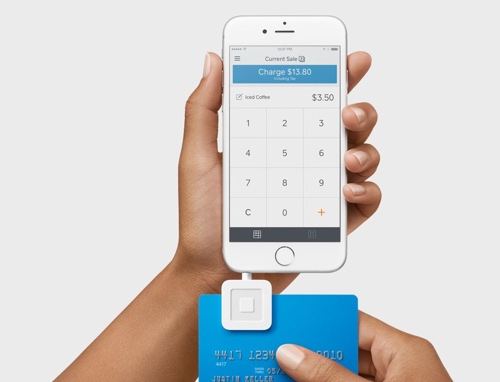 Square magstripe reader taking swipe payment