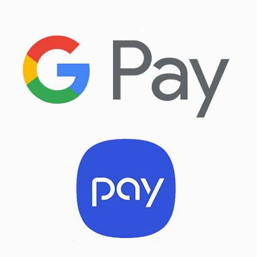 Loghi Google Pay e Samsung Pay